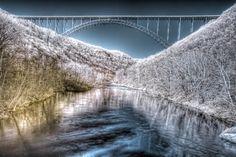 New River Gorge Bridge, Fayetteville, WV  #Bridgeday #Fayetteville #WV #WildandWonderful #Infrared