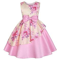 Kid Girl Cotton Butterfly Clothes Years Little Girls Sleeveless Floral Princess Dress Sundress Size 7 Years OldGirls Pink Floral Sateen Overlay Summer Party Dress - Find girls party dresses online from Divas Fashions for your wedding party.M-Sea Girl African Dresses For Kids, Toddler Girl Dresses, Little Girl Dresses, Girls Dresses, Toddler Girls, Baby Girls, Toddler Formal Dresses, Elegant Party Dresses, Sexy Dresses