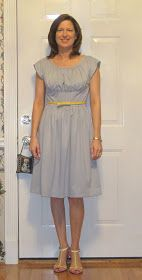 Shoes & Sewing: V8728 - Gray Knit Dress