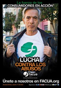Imanol Arias, socio de FACUA nº 34.643, llama a los consumidores a la lucha contra los abusos