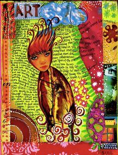 2 journal pages | teesha's circus