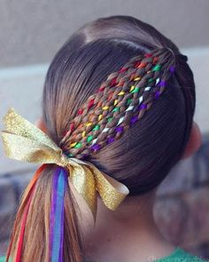 17 Trendy Kids Hairstyles You Have to Try-Out on Your Kids Crazy Hair Styles for Girls, Girl Hair Dos, Baby Girl Hair, Kid Hair, Toddler Girl Hair, Hair Kids, Winter Hairstyles, Braided Hairstyles, Hairstyles For Girls, Funny Hairstyles