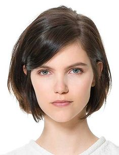 One Side Parted Short Natural Straight Human Hair Wig - Human Hair Wigs - Short Straight Haircut, Short Hair Cuts, Straight Cut, Short Wavy, Pixie Cuts, Short Hair Side Part, Pixie Bob, Short Pixie, Medium Hair Styles