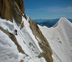 #Climbing the #mountains during the #winter.