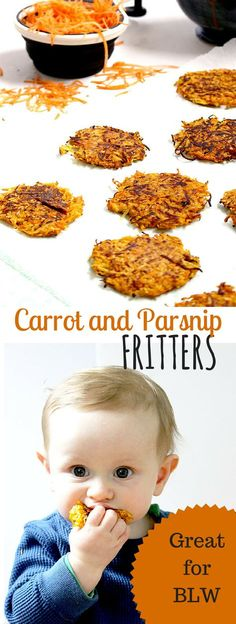 These carrot and parsnip fritters are a great way to get veggies into you and your kids diet. They are perfect for baby-led weaning BLW