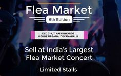 Flea Market By Yappily @ Ozone Urbana, Devanahalli, Bangalore on 3rd - 4th Dec 2016, from 11AM - 10PM