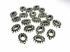 40 pcs 7x9mm Antique Oxidized Silver Oval by FancyGemsandFindings, $3.75 Oxidized Silver, Cufflinks, Antiques, Antiquities, Antique, Wedding Cufflinks