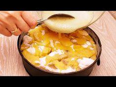 Německý jablečný koláč! Jednoduchý a snadno připravitelný, rychlý a chutný recept # 105 - YouTube Hungarian Recipes, How To Make Bread, Apple Pie, Oatmeal, Pudding, Yummy Food, Cookies, Breakfast, Sweet