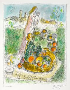 CHAGALL, Marc France(1939-1942)_Mother and Child with Basket,1975