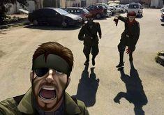 Big Boss Metal Gear, Snake Metal Gear, Metal Gear Solid Series, Revolver Ocelot, Metal Meme, Gear Art, Skull Face, Live Action, Music Bands