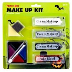 Halloween Horror Make-up Kit With Fake Blood - Halloween Fancy Dress - Halloween Halloween 2014, Halloween Items, Creepy Halloween, Halloween Fancy Dress, Halloween Horror, Halloween Party, Halloween Costumes, Fancy Dress Accessories, Halloween Accessories