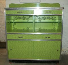 1950's Retro American Green Formica Kitchen Dining Room Sideboard | eBay