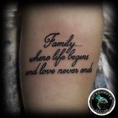 Τατουαζ γραμματα για την οικογενεια προτεινεται παντα απο το Acanomuta tattoo studio #TheTattooParlor-Studio