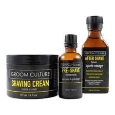 Shaving Stack - Pre-Shave, Shaving Cream, & After Shave