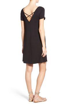 Black Crossback Shift Dress / made in usa