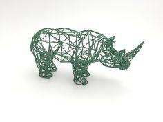 Rhino 3D Printed Digital Safari Sculpture by XYZWorkshop on Etsy https://www.etsy.com/listing/218849538/rhino-3d-printed-digital-safari
