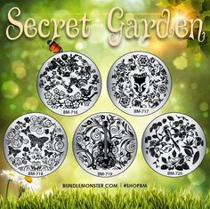 Lacquer Lockdown: Hot Off The Stamping Press: Bundle Monster Secret Garden Nail Art Stamping Plate Collection!