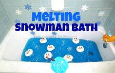 Melting snowman bath - the kids will love this activity perfect for winter!