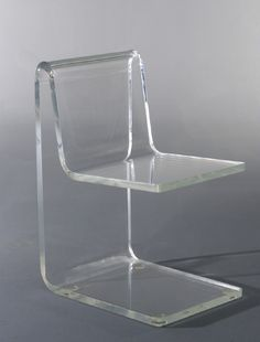 Jean Dudon; Plexiglass Side Chair, 1968.