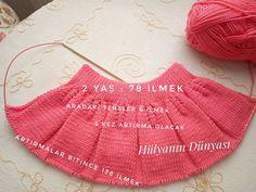 Knitting For Kids, Baby Knitting Patterns, Crochet For Kids, Crochet Baby, Baby Skirt, Booties Crochet, Baby Vest, Knit Skirt, Crochet Fashion