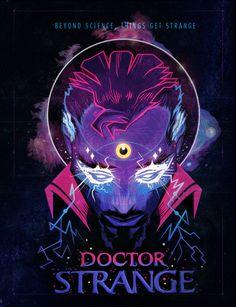 beyond science, things get strange. Dr Strange Poster. #drstrange #marvel