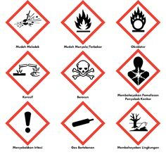 Label (Tanda/Simbol) Kemasan Bahan/Material Berbahaya/B3 (Bahan Beracun dan… Warehouse Logistics, Danger Signs, Lab Safety, Health And Safety, Background Patterns, Education, Label, Public Health, Social