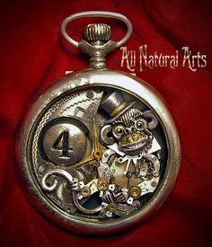 Clockwork Steampunk Sculptures by Susan Beatrice - Gothic Life Style Steampunk, Steampunk Watch, Steampunk Cosplay, Steampunk Fashion, Steampunk Crafts, Old Watches, Pocket Watches, Steam Punk Jewelry, Steampunk Accessories