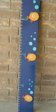 Hand Painted Fish Growth Chart by CreatingMoore on Etsy, $25.00 Painted Fish, Growth Charts, Hand Painted Wine Glasses, Kids Girls, Babies, Mom, Signs, Children, Handmade Gifts
