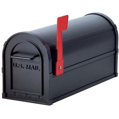Mailbox has a red flag Body is made of 0.125-inch thick extruded aluminum Front door and rear cover are made of 0.125-inch thick die-cast aluminum Measures 7.5 inches wide x 9.5 inches high x 20.5 inc