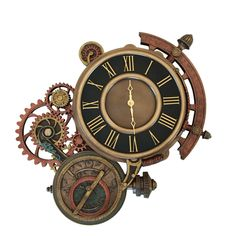 XoticBrands Steampunk Astrolabe Wall Clock - Home Accent - Cold Cast Bronze Sculpture - Explore the World of Steampunk Arte Steampunk, Steampunk Home Decor, Steampunk Clock, Steampunk House, Steampunk Design, Steampunk Crafts, Steampunk Clothing, Steampunk Fashion, Steampunk Makeup