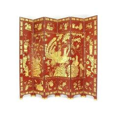 7 ft. Tall Phoenix Gold on Red Screen