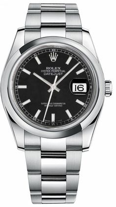 Never Worn – Never Used – Not Pre Owned - Rolex DateJust 116200 Steel Watch Black Dial Automatic Watch