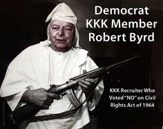 Liberals obviously don't know KKK members were typically democrat while Lincoln and MLK were Republican? It was the Republican party that wanted to abolish slavery. It is the Republican party that wants to implement policies to improve the lives of minorities and the poor and get them off welfare so they can live the American dream, whereas Democrat policies continue to enslave them and keep them poor. Do your homework and wake up, people.