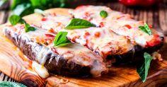 Ručak na brzinu: Plavi patlidžan sa nadevom od šunke Greek Recipes, Keto Recipes, Cake Recipes, Cetogenic Diet, Carne Picada, Tzatziki, Steak, Pork, Dishes