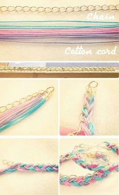 Cotton Cord Chain Bracelets