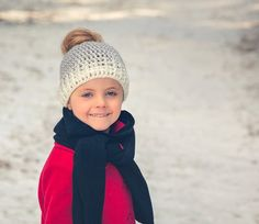 Mommy and Me Messy Bun Hat Messy Bun Ombre by ModernCrochetClub