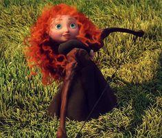 Little Merida with King Fergus's bow - Pixar's Brave