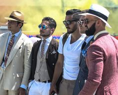 They came to be seen, preen and pose at the Pitti Uomo. These dapper gents en masse set the sartorial standards.