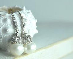 Classic Pearl Earring Bridal Earrings on by LillyputLaneDesignCo, $128.00