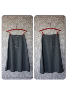 Vintage 1940's Gray A line Skirt S/M 26 Inch Waist by pursuingandie, $38.00