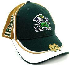 69f1b491a76 Fighting Irish Twin Enterprise Vecro Strapback Hat Cap Team NWOT Notre Dame