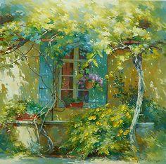 Green sunny garden Johan Messely