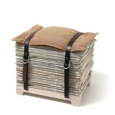 Newspaper stool