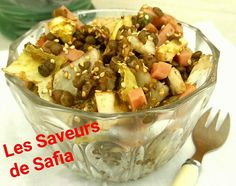 Salade lentilles/endives Recette sur Facebook Les Saveurs de Safia.