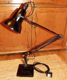 HERBERT TERRY Original Early Black ANGLEPOISE DESK LAMP