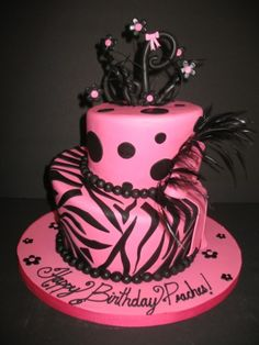 Click to enlarge 1st Birthday Diva Divo Zebra Cake Cake ideas