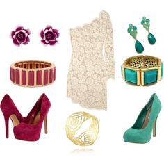 Semi Formal... plum or turquoise? dress-me-up