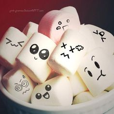 Marshmallow faces