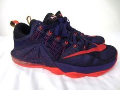buy online 3416b b7db1 Nike Lebron 12 XII Low Sz 9.5 (724557-565) Court Purple Bright Crimson Mens   Nike  BasketballShoes