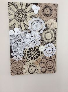 Crochet doily art. Inspired by a piece found on Pinterest.